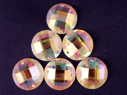 AST2 Sew On Round Crystal & AB Stones 20 pieces in a pkt