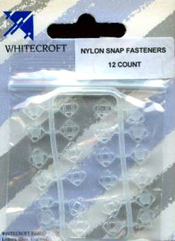 74551 Carded Clear Nylon Snap Fasteners