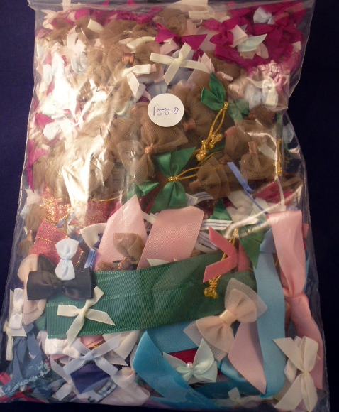 Clearance Assorted bag of ribbon bows