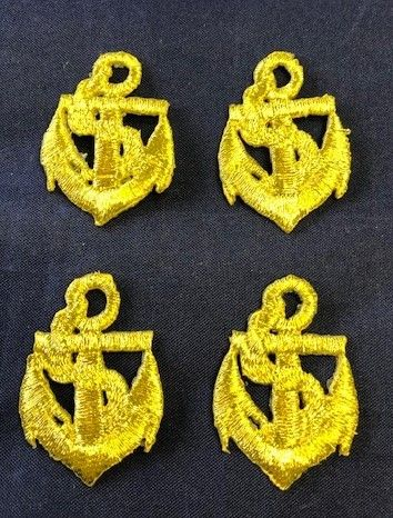Clearance Gold Anchor Iron On Motif