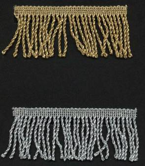 "Metallic Bullion Fringe 2"" and 4"""