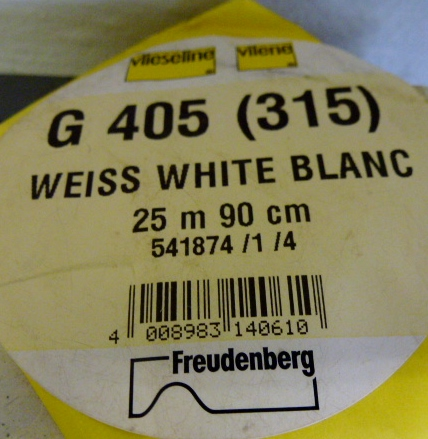Vilene G405/315 White Medium 90cm Iron On Ultrasoft